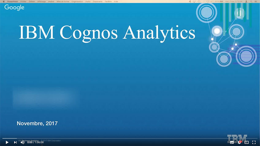 Démo IBM Cognos Analytics